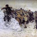 Василий Суриков. Взятие снежного городка. 1891 год