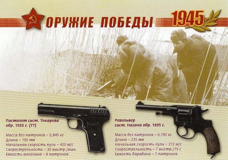 Пистолет системы Токарева и револьвер системы Нагана